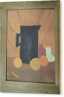 Wood Print featuring the painting #1 by Mary Ellen Anderson