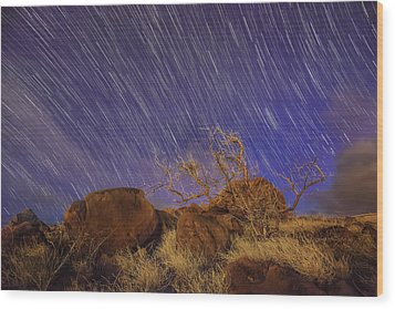 Wood Print featuring the photograph Maui Star Trails by Hawaii  Fine Art Photography