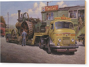 May's Transport Cafe. Wood Print by Mike  Jeffries