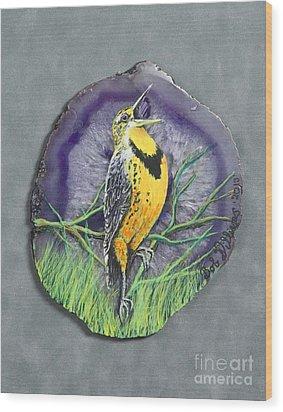 Meadow Soloist I Wood Print