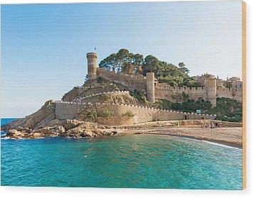Medieval Castle In Tossa De Mar Spain Wood Print by Marek Poplawski