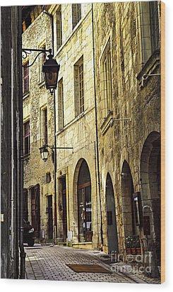 Medieval Street In France Wood Print by Elena Elisseeva