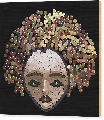 Medusa Bedazzled After Wood Print by R  Allen Swezey
