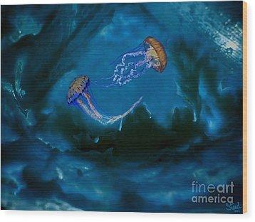 Medusa's Cavern Wood Print by Steed Edwards