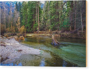 Merced River Yosemite National Park Wood Print by Scott McGuire