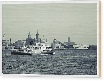 Mersey Ferry Wood Print by Spikey Mouse Photography