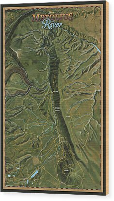 Metolius River Wood Print by Pete Chadwell