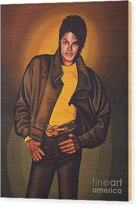 Michael Jackson Wood Print by Paul Meijering