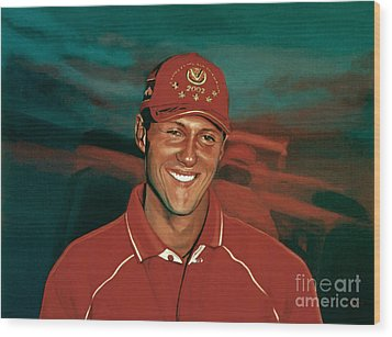Michael Schumacher Wood Print by Paul Meijering