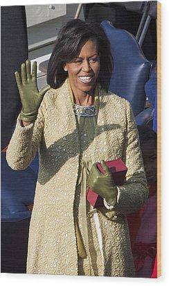 Michelle Obama Wood Print by JP Tripp