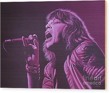 Mick Jagger Wood Print by Paul Meijering