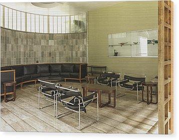 Midcentury Modern Interior Wood Print by Lynn Palmer