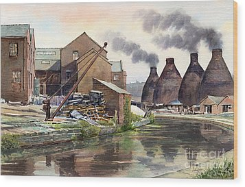 Middleport Pottery Wood Print by Anthony Forster