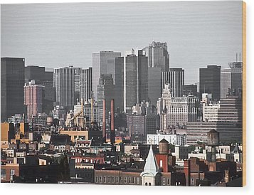 Midtown Manhattan 1978 Wood Print by Kellice Swaggerty