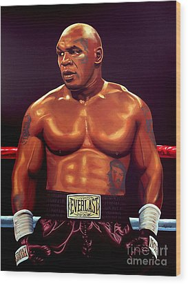 Mike Tyson Wood Print by Paul Meijering