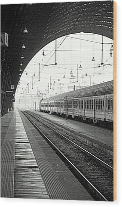 Milan Central Station Wood Print by Valentino Visentini