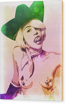 Miley Cyrus Wood Print by Svelby Art