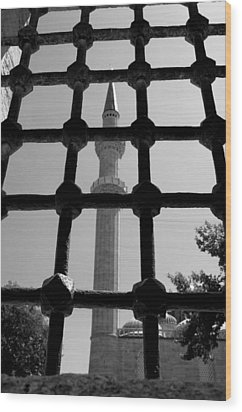 Minaret Wood Print by Ernesto Cinquepalmi