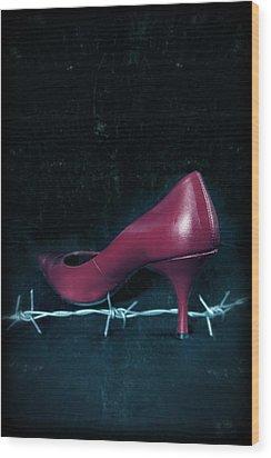 Mind Your Steps Wood Print by Joana Kruse