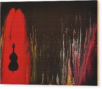 Wood Print featuring the painting Mingus by Michael Cross