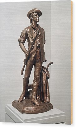 Minutemen Soldier Wood Print by Granger