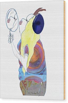 Wood Print featuring the digital art Mirror Mirror by Gabrielle Schertz