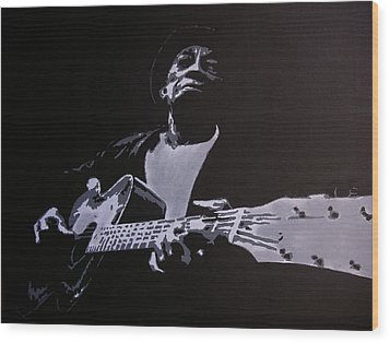 Mississippi John Hurt Wood Print