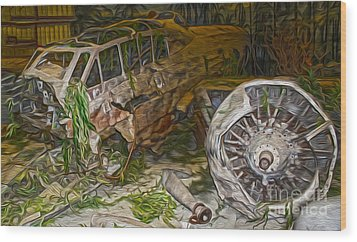 Mitsubishi Betty G4m - 02 Wood Print by Gregory Dyer