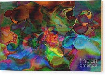 Mixture Of Love Wood Print by Gayle Price Thomas