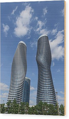 Modern Condos In Mississauga Ontario Canada Wood Print by Marek Poplawski