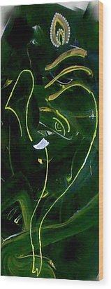 Modern Ganesha Wood Print by Poornima Ravi