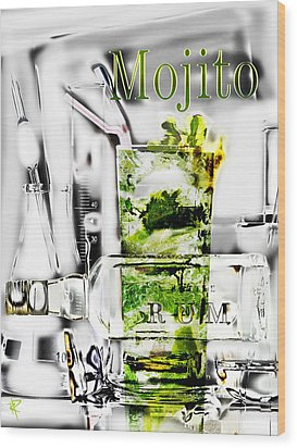 Mojito Wood Print by Russell Pierce
