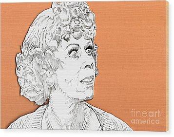 momma on Orange Wood Print