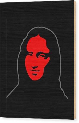 Mona Wood Print by Asbjorn Lonvig