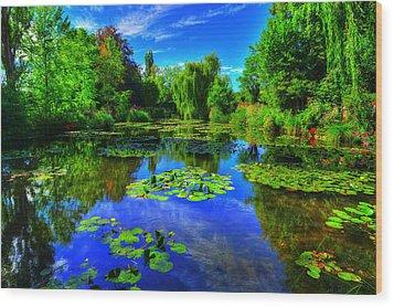 Monet's Lily Pond Wood Print