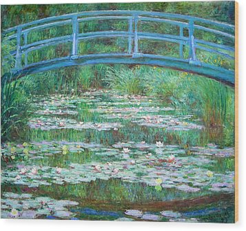 Wood Print featuring the photograph Monet's The Japanese Footbridge by Cora Wandel