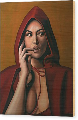 Monica Bellucci Wood Print by Paul Meijering