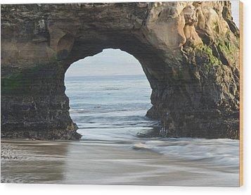 Monolith Natural Bridges State Beach  Wood Print