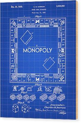 Monopoly Patent 1935 - Blue Wood Print
