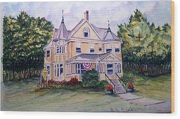 Monroe Inn Auburn Maine Sold Wood Print by Richard Benson