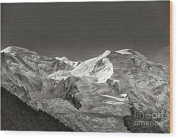 Mont Blanc Group Wood Print by Juergen Klust