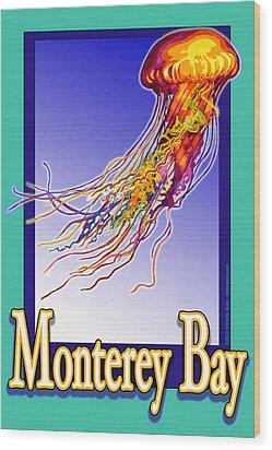 Monterey Bay Jellyfish Wood Print by Michelle Scott