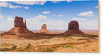 Monument Valley Panorama Wood Print