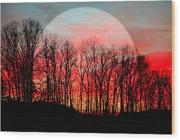 Moon Dance Wood Print by Karen Wiles