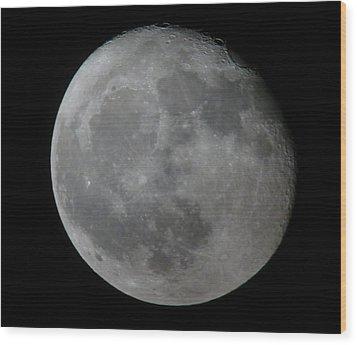 Moon Wood Print by George Leask