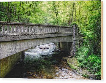 Moore Cove Bridge Wood Print