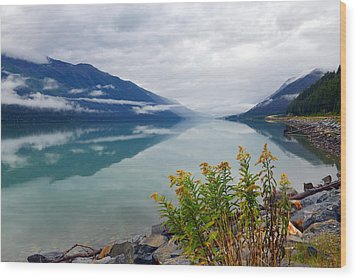 Moose Lake Wood Print by Yue Wang