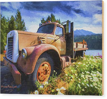 Moose Pass Limo Wood Print by David Wagner