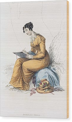 Morning Dress, Fashion Plate Wood Print by English School