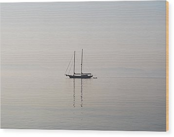 Wood Print featuring the photograph Morning Mist by George Katechis